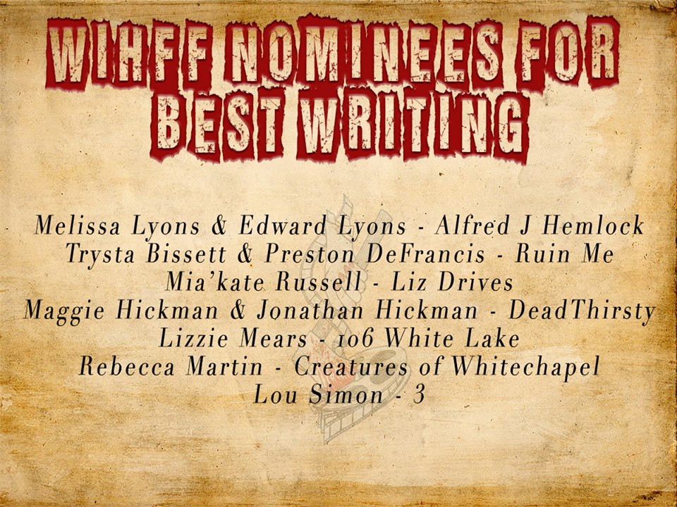 WIHFF Best Writing Nomination Melissa Lyons Edward Lyons