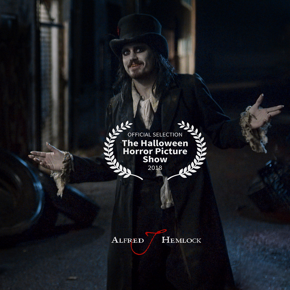 Alfred J Hemlock with The Halloween Horror Picture Show laurel