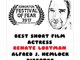 Alfred J Hemlock Wins Best Short High Concept and Best Short Film Actress - Renaye Loryman at Edmont