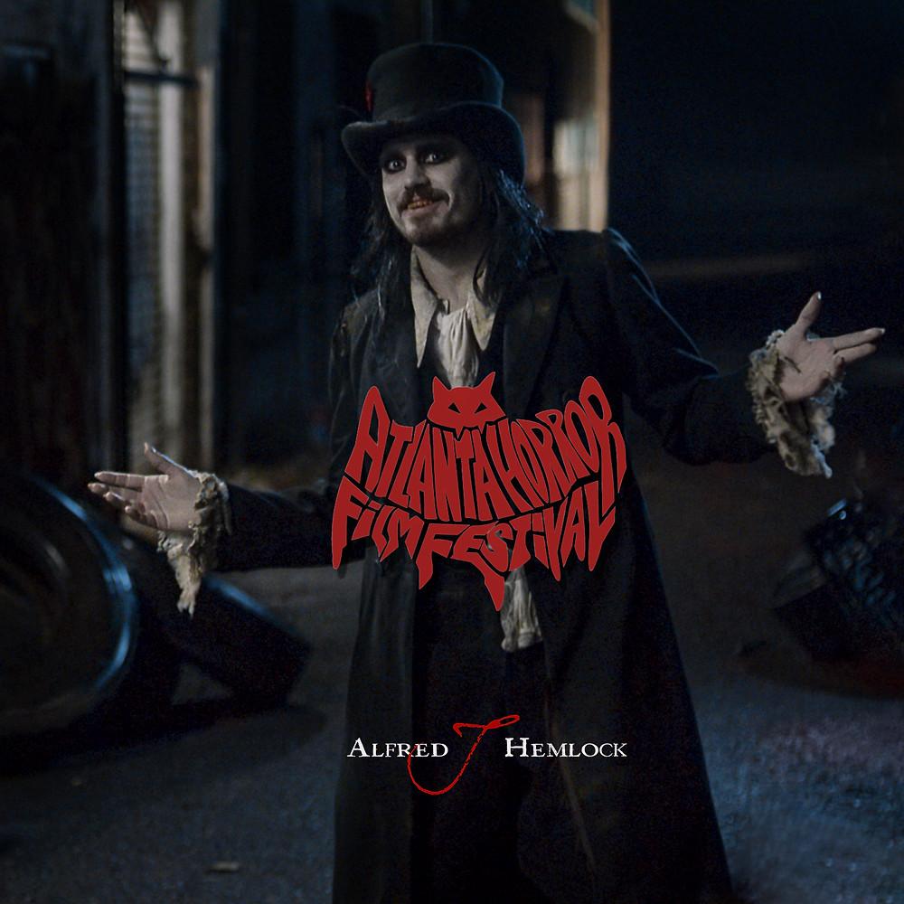 Alfred J Hemlock with Atlanta Horror Film Festival Logo
