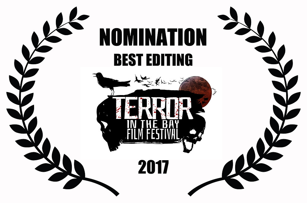 Edward Lyons Nominated for Best Editing for Alfred J Hemlock at Terror in the Bay Film Festival 2017
