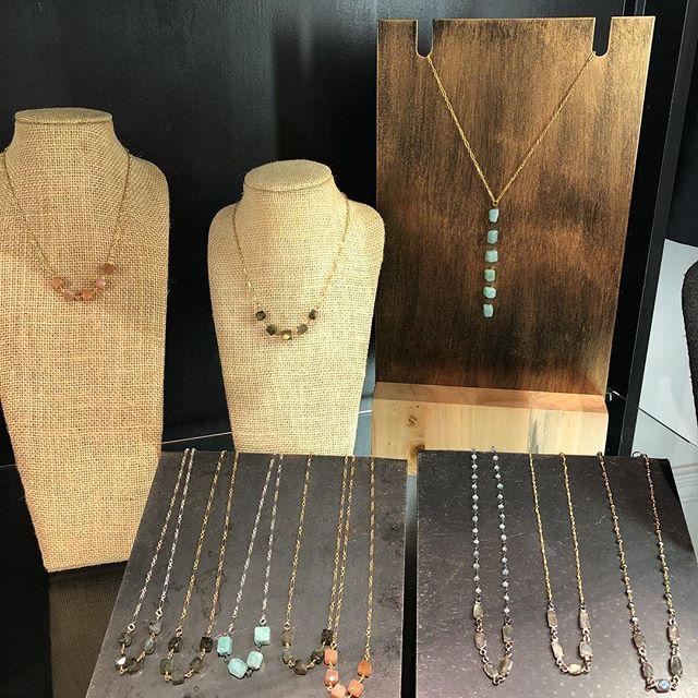 NEW handmade semiprecious stone necklace