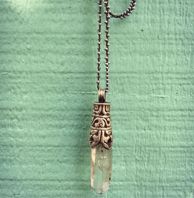 Beautiful handmade crystal pendants on h