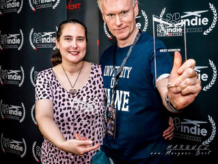 Director Edward Lyons and Producer Melissa Lyons Winners At The Sydney Indie Film Festival