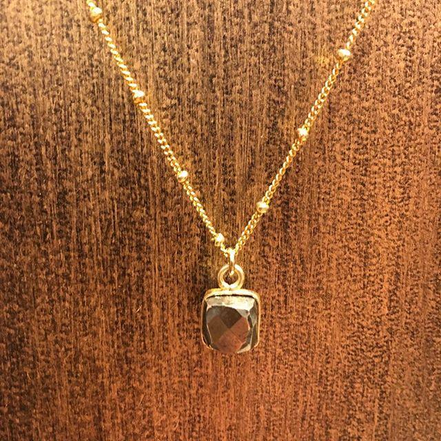 Handmade pyrite necklace