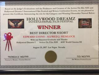 Alfred J Hemlock Won 3 Awards at The Hollywood Dreamz International Film Festival