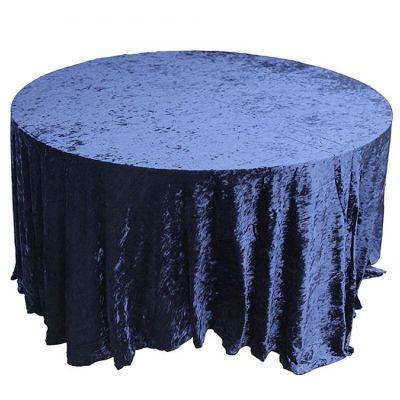 navy Velvet Table Linen
