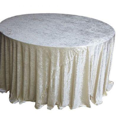 ivory Velvet Table Linen