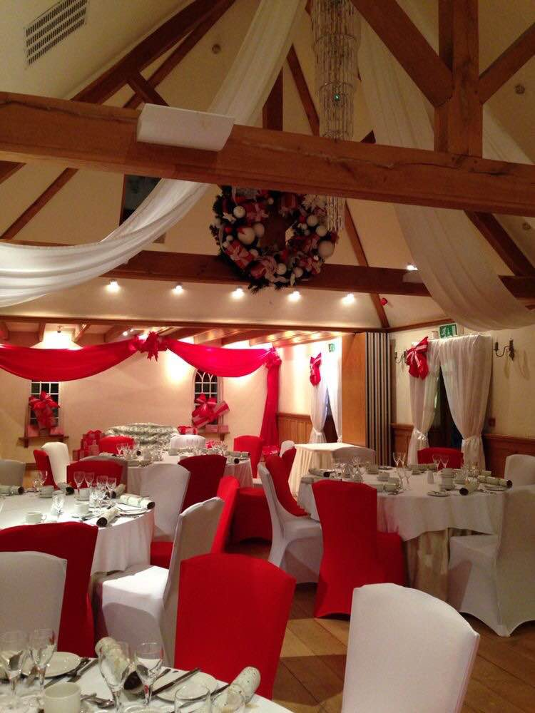 Christmas Ceiling Drapes And Canopy
