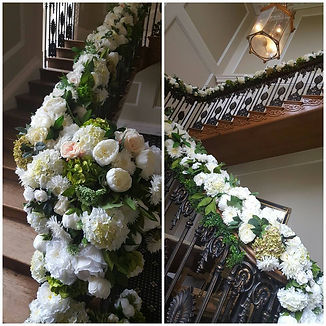 Large staircase for wedding photos