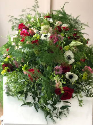 RIP Natural casket flowers
