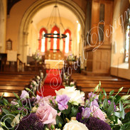 The Font on a wedding at Braxted Park