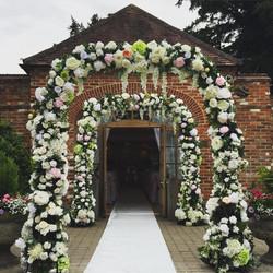 Silk Flower Arch Walkway