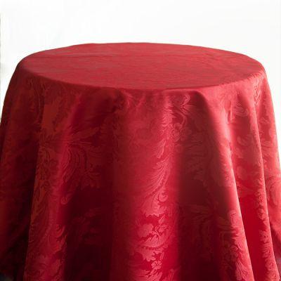 Red Luxury Damask Table Cloth
