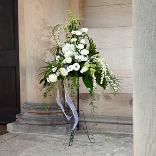 RIP Church service flowers and Tributes