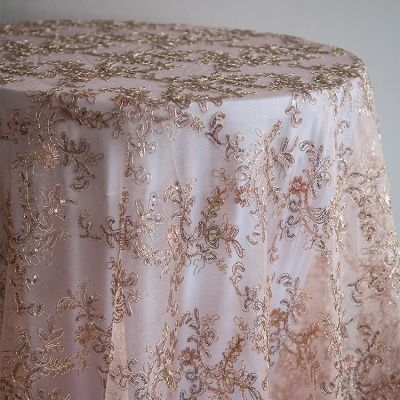 blush pink embroided overlay