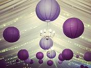 Ultra Violet paper ceiling lanterns
