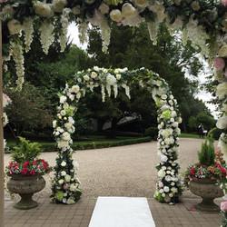 Silk Flower arches