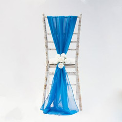 Royal Blue Vertical Chiffon 424