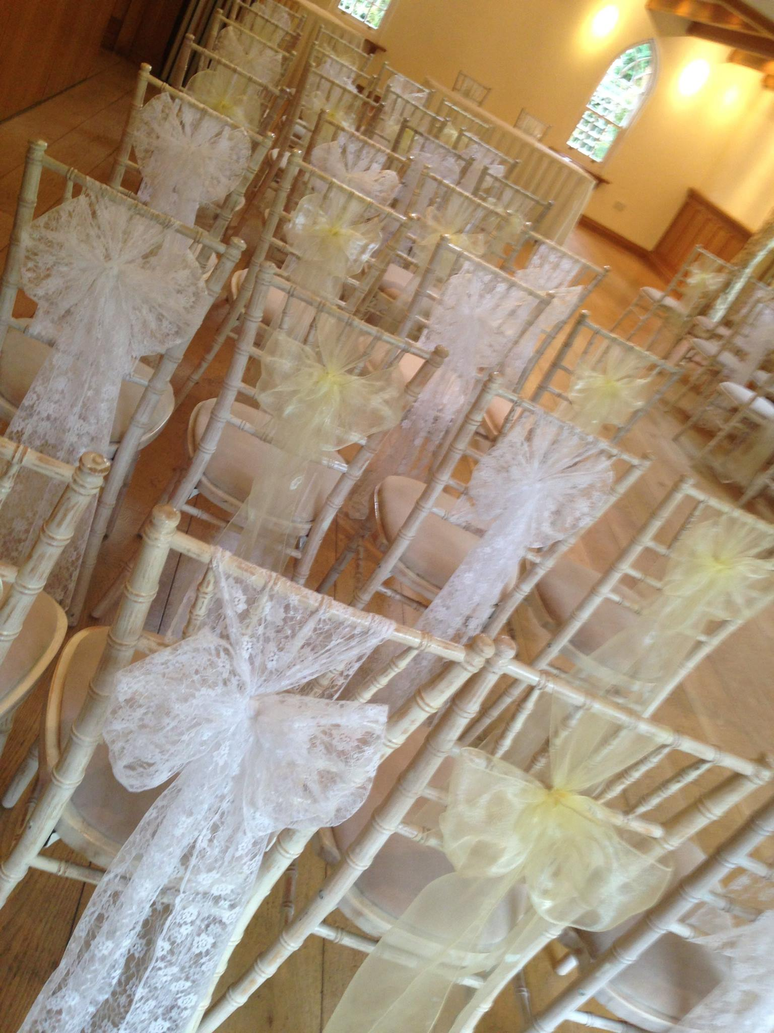 Lace & Organza single sashes