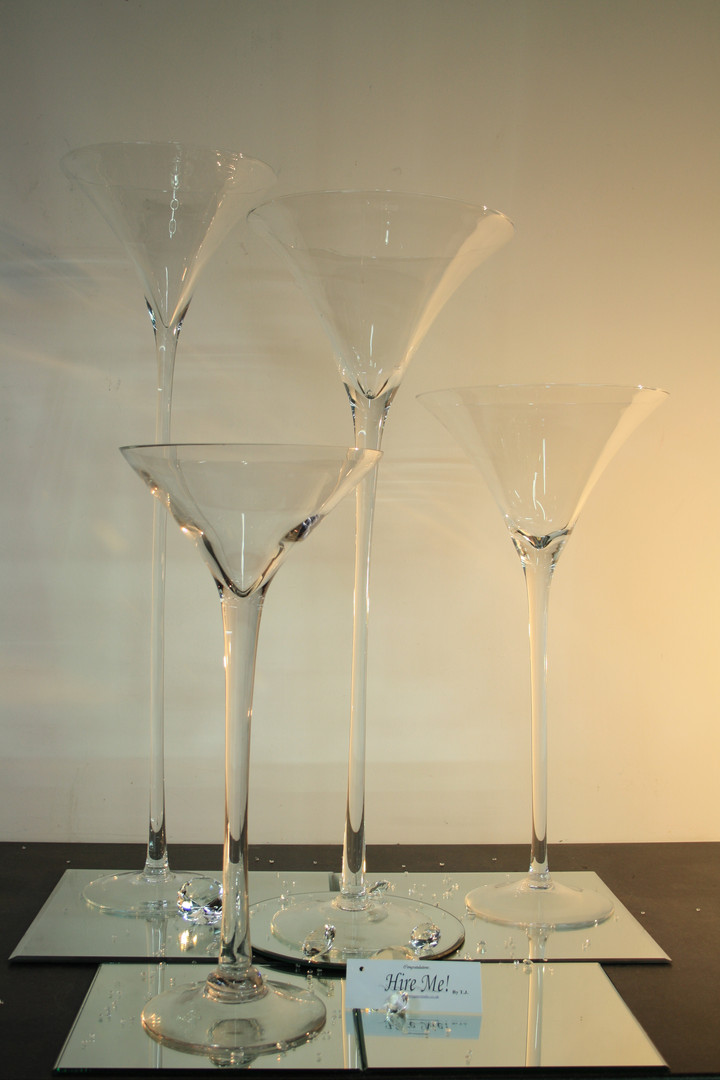 The Martini Vase Collection Hire