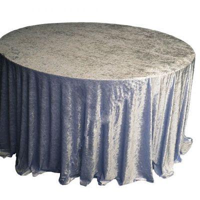 dark silver Velvet Table Linen