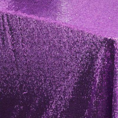 Purple Sequin Table Cloth