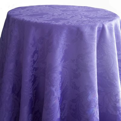Purple Luxury Damask Table Cloth