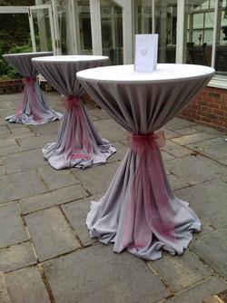 TJ Designer Weddings cocktail tables grey