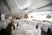Ceiling swags and flower ring Braxted Park weddings