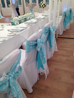 Turquoise & White Lace
