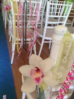 Chiavari Chair with Ribbons & Flower