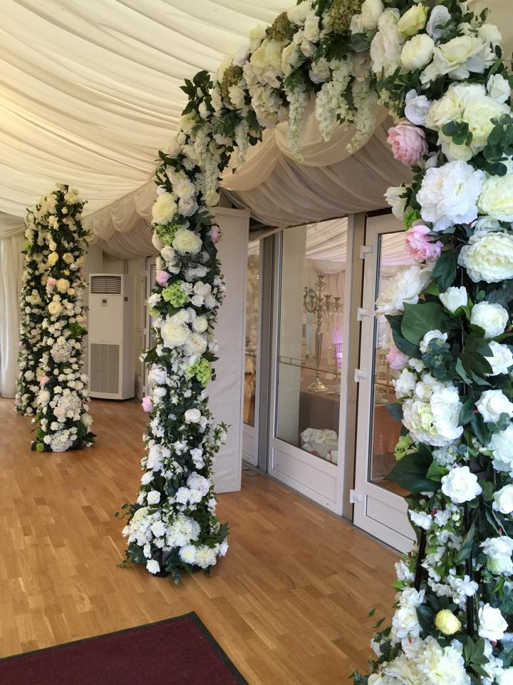 Silk Flower arches entrance