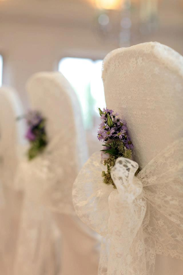 Chair covers by Coverit lace hoods