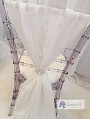 Chiavari Ice Chair and vertical sash