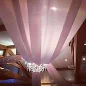 Blush Pink Ceiling Canopy