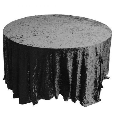 black Velvet Table Linen