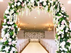 Boreham House Aisle Carpet and Floral Ar