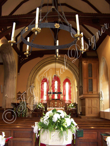 The Font - All Saints Braxted Park Weddings