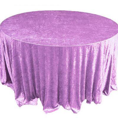 lilac Velvet Table Linen