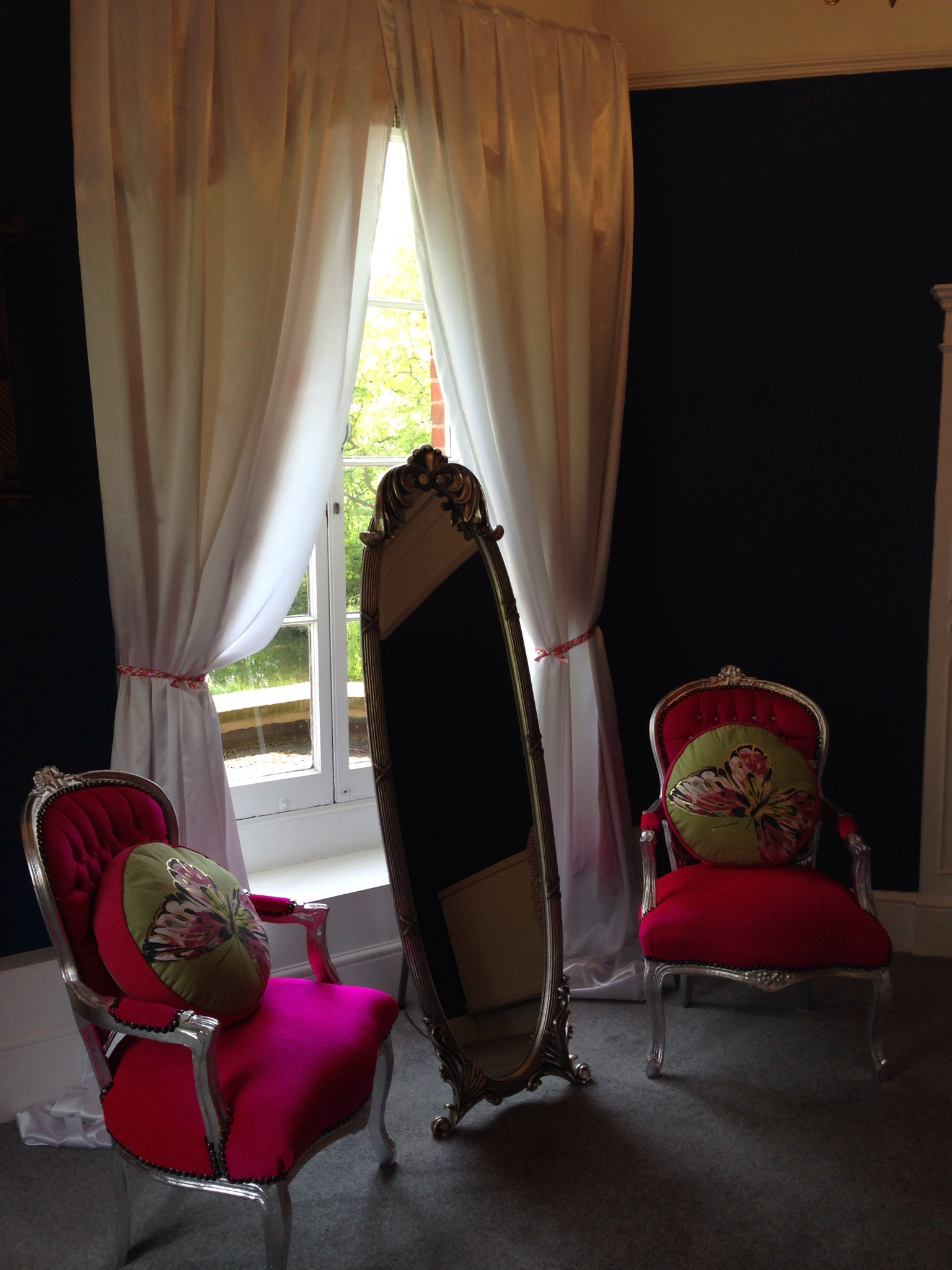 Louis Chairs and Cavalle mirror