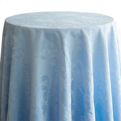 baby blue Luxury Damask Table Cloth