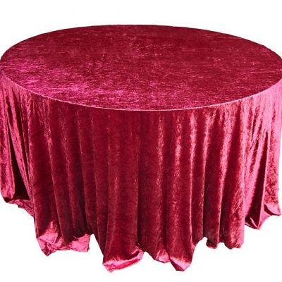 garnet Velvet Table Linen