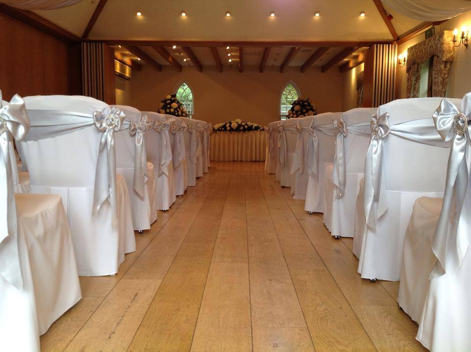 Coverit silver satin sashes