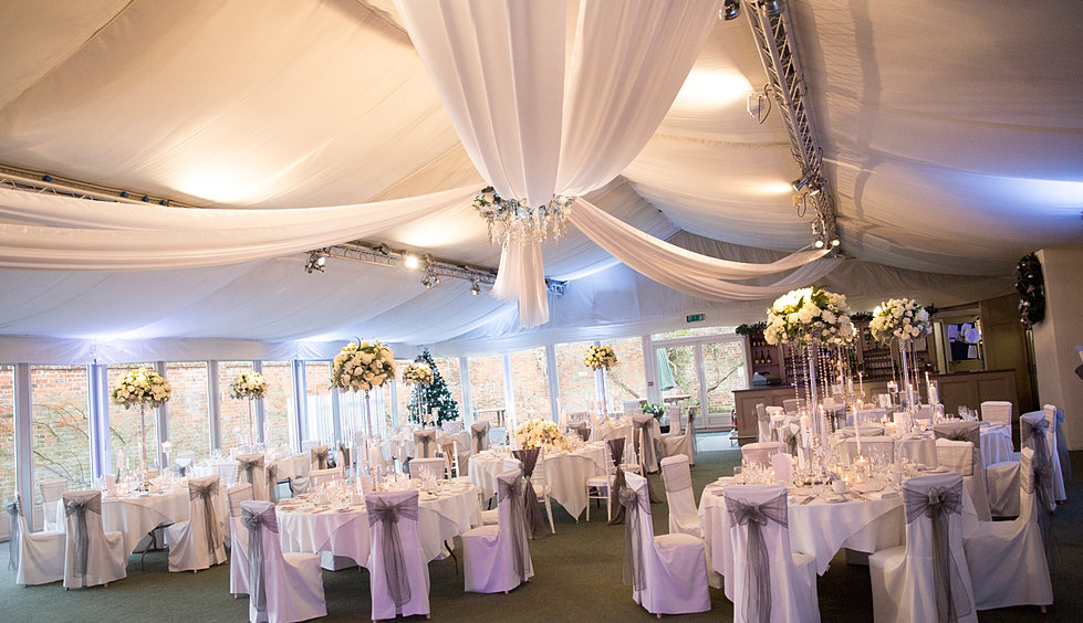 wedding chair cover and sashes and venue decoration essex