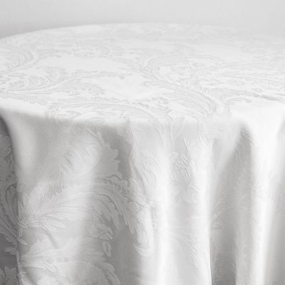 white Luxury Damask Table Cloth