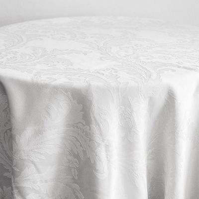 white Luxury Damask Table Cloth