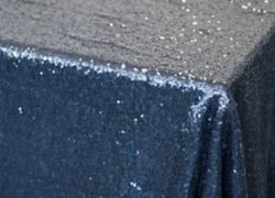 Navy Sequin Table Cloth