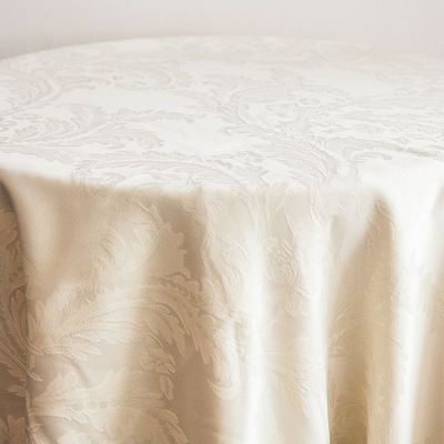 Ivory Luxury Damask Table Cloth