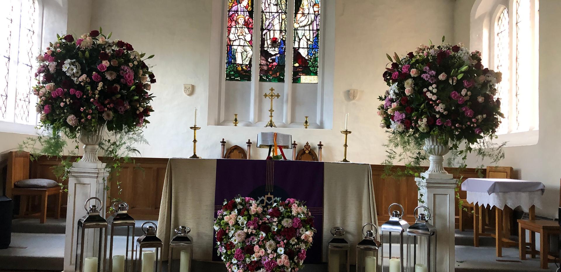 RIP Funeral Memorial Flowers by T.J.